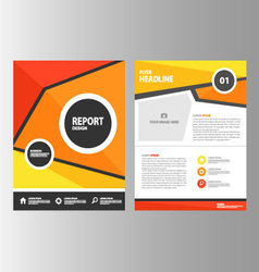 Red Orange Yellow annual report brochure flyer vector image