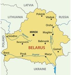 Republic of belarus - map vector
