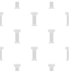 Roman column pattern flat vector