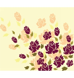 Rose flower on yellow background vector