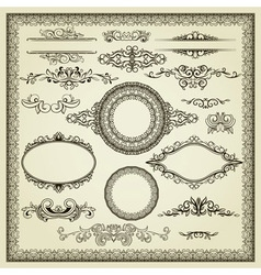 Set of vintage elements vector image vector image