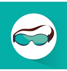sport glasses winter accessory vector image