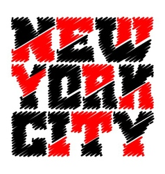T shirt typography graphics New York drawn vector image vector image