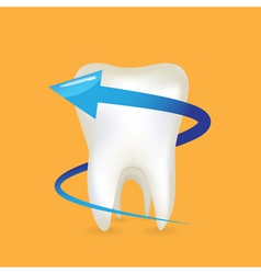 Tooth and arrow vector image vector image