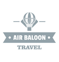 vintage air balloon logo simple gray style vector image