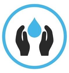 Water care flat icon vector