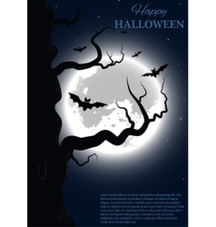 Halloween party design template vector