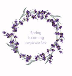 beautiful lavender wreath vector image