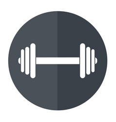 barbell fitness sport shadow vector image