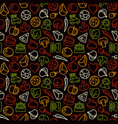 seamless pattern for pizzeria vector image