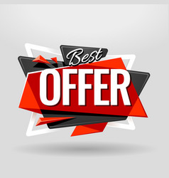 Best offer geometric banner vector