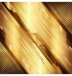 Gold technical background vector