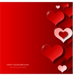 Modern valentines day background vector