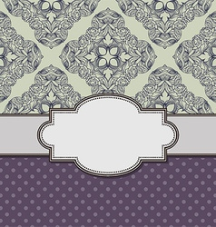 Decorative old style vintage frame design vector