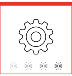 Icon of gear vector