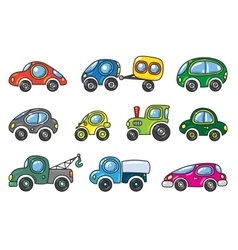 Small cars set vector image