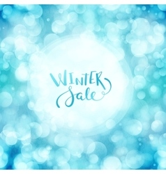 Winter sale background vector