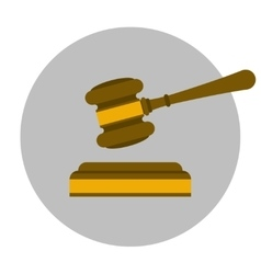 Judge gavel flat icon vector