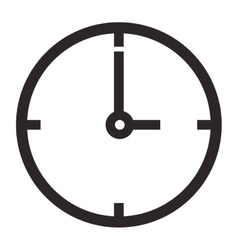 Simple clock icon vector