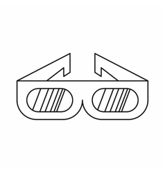 3d cinema glasses icon in outline style vector