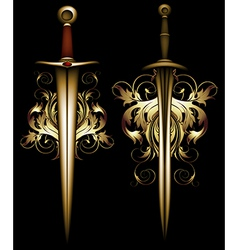 ancient ornate arms vector image vector image