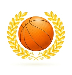 Basketball emblem vector image