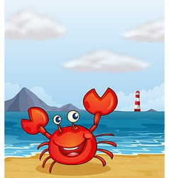 Beachside crab vector