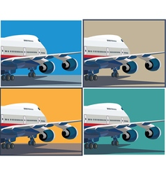 big civil aircraft vector image