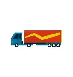 Big long distance cargo truck vector