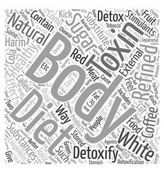 Body detox diet natural word cloud concept vector