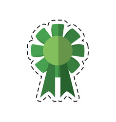 Cartoon st patricks day rosette ornament icon vector