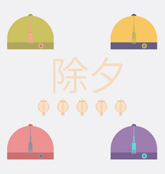 China traditional hat vector