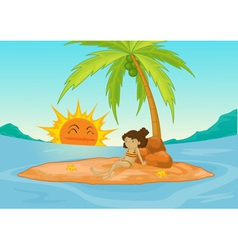 Deserted island vector image