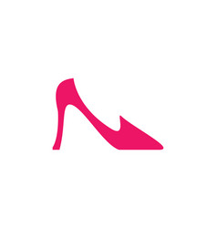 elegant women shoe icon vector image