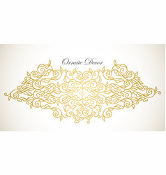 Element luxury ornament vector