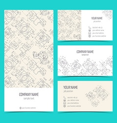 Engineering business cards flyers leaflets with vector image vector image