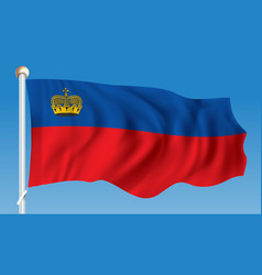 Flag of liechtenstein vector