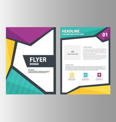 Green blue purple brochure flyer leaflet layout vector