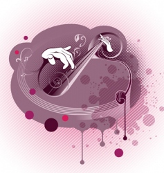 Grunge Abstract Music Composition vector image vector image