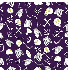 Halloween skeletons pattern 04 vector image