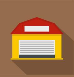 hangar icon flat style vector image vector image