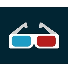 icon glasses 3d cinema design vector image vector image