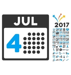 Independence day icon with 2017 year bonus vector