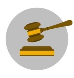 Judge gavel flat icon vector