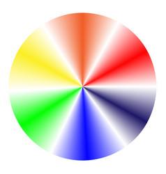 multicolored cone gradient vector image vector image