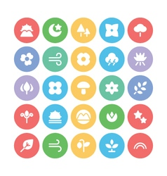 Nature colored icons 7 vector