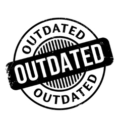 Outdated rubber stamp vector
