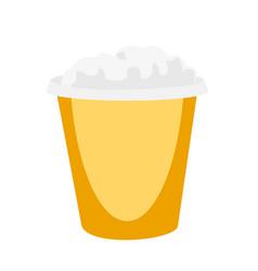 Popcorn in yellow box cartoon vector