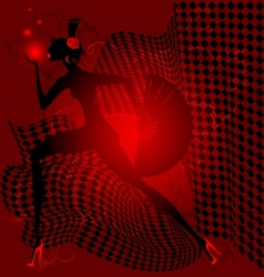 red dance vector image vector image