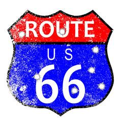 Route 66 bullet holes vector